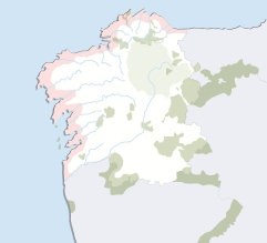 Figura 17. Ámbito del plan del litoral gallego